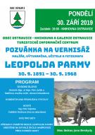 Pozvánka na vernisáž Leopolda Parmy